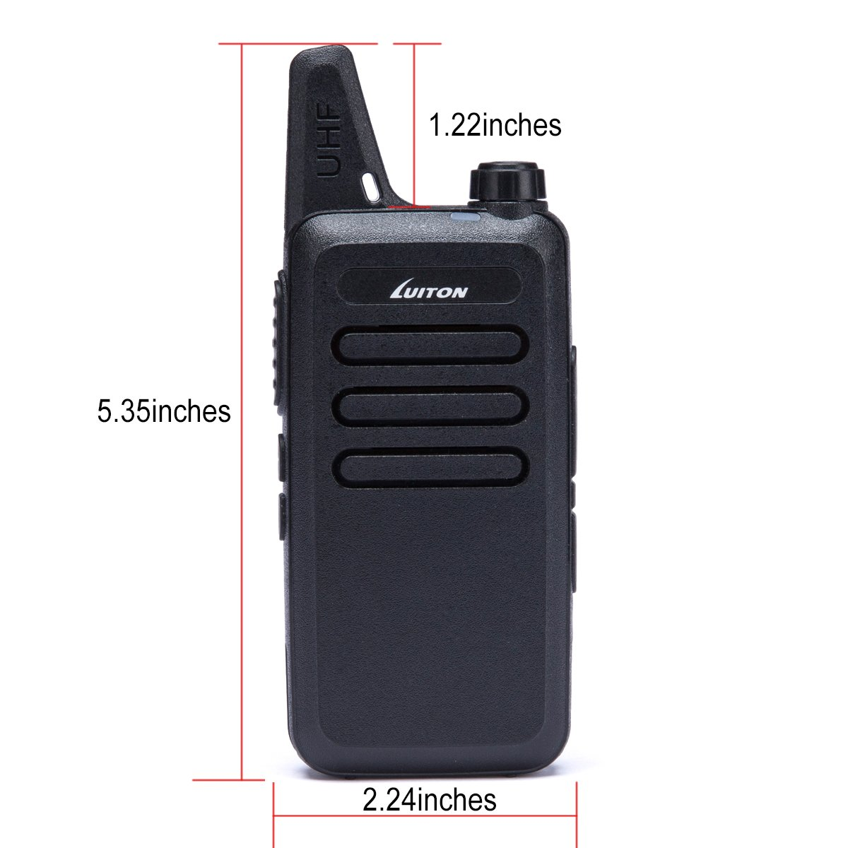 LUITON Mini Kids Walkie Talkies with Micro USB Charging LT-316 Uhf Two Way Radio (10 Pcs) by LUITON (Image #2)