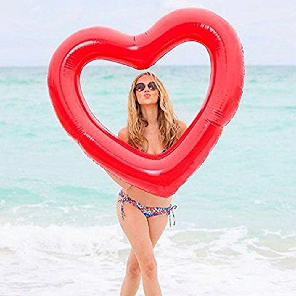 V. point hinchable flotador amor forma de corazón agua ...