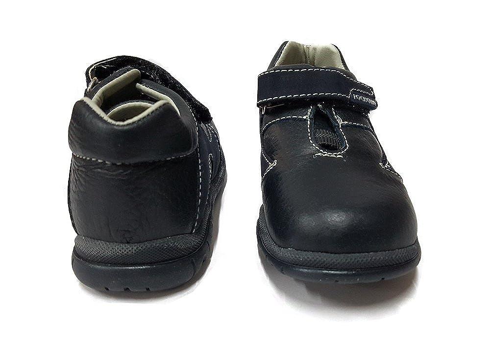 Blue Toddler//Little Kid Pocholin Boys Genuine Leather Shoes