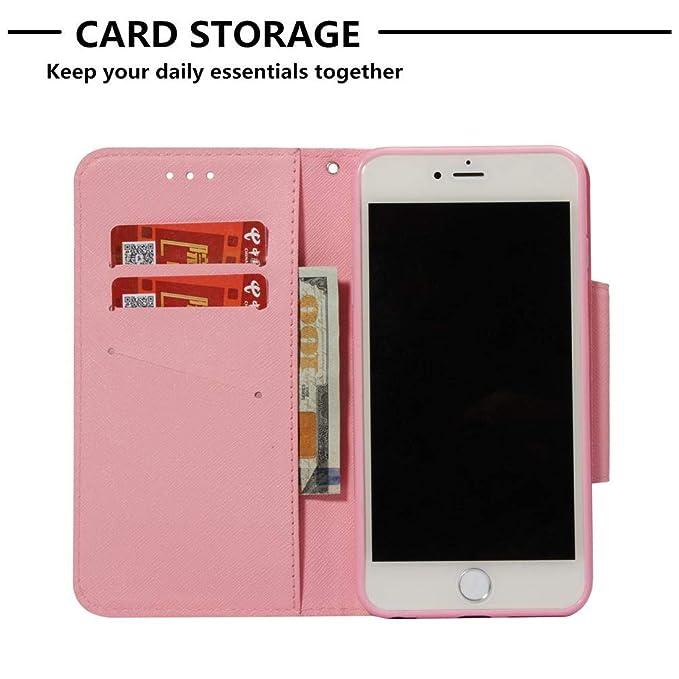 iPhone 6 Plus/6S Plus Case,Premium 3D Printing PU Leather Full Protective Case Inner Soft Bumper Drop Proof Durable Slim Card Holder Kickstand Case ...