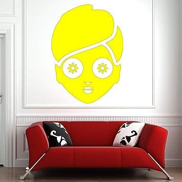 Faciales Cuidado de la piel Masaje Etiqueta de la pared Baño Mujer Cara Vinilo Tatuajes de pared Sala de estar Decoración del hogar Salón de belleza Decoración Color-2 42x58cm: Amazon.es: Bebé