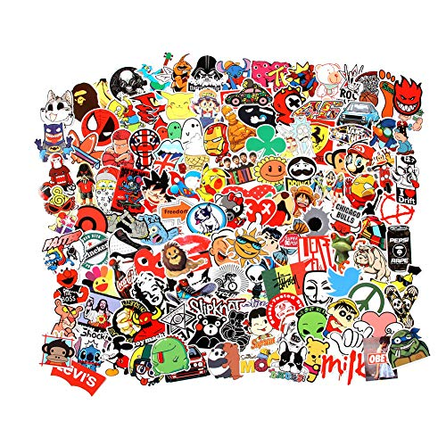 Cool Random Stickers 55-700pcs FNGEEN Laptop Stickers Bomb Vinyl Stickers Variety Pack for Luggage Computer Skateboard Car Motorcycle Decal for Teens Adults (55 PCS)