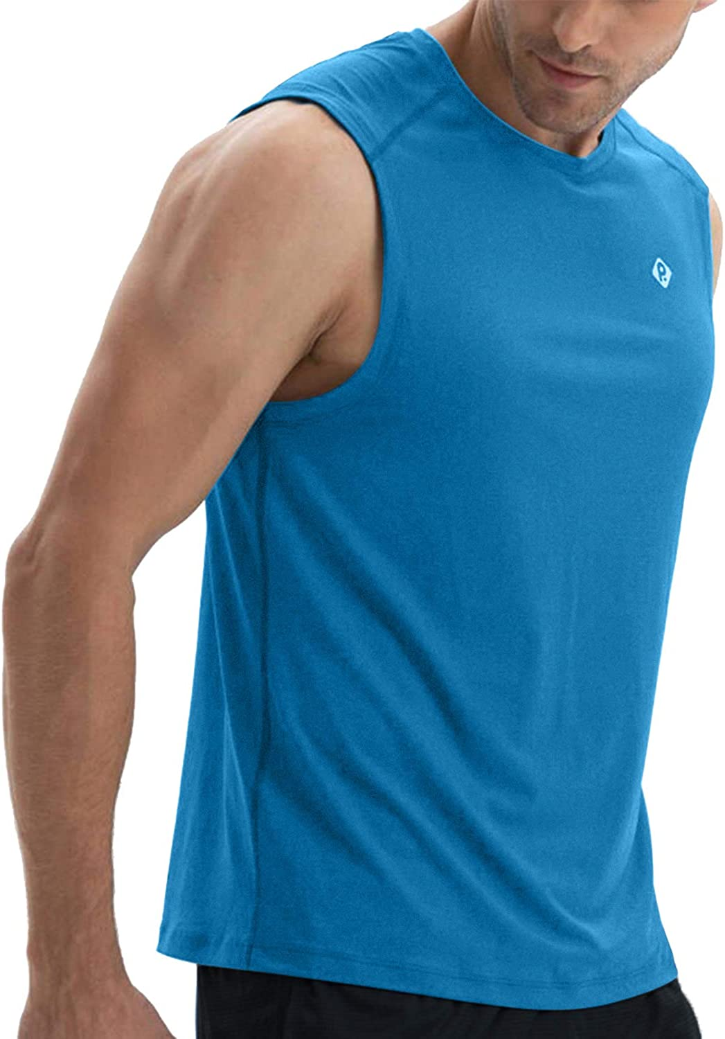 RlaGed Mens Performance Quick Dry Sleeveless Shirt for Athletic Muscle Bodybuilding Workout Sports Tank Tops