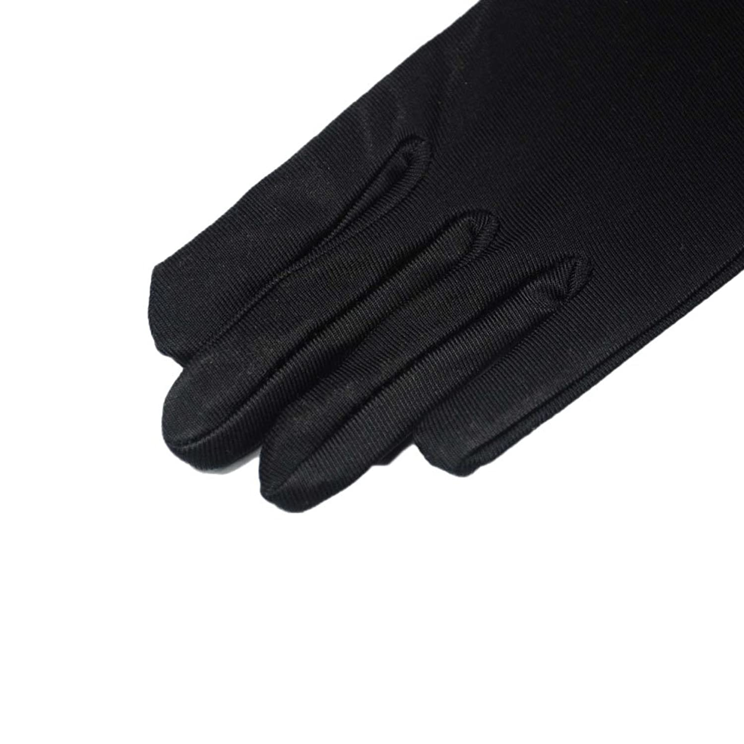 Black gloves evening wear - Amazon Com 22 Classic Adult Size Long Opera Length Satin Gloves Black Clothing