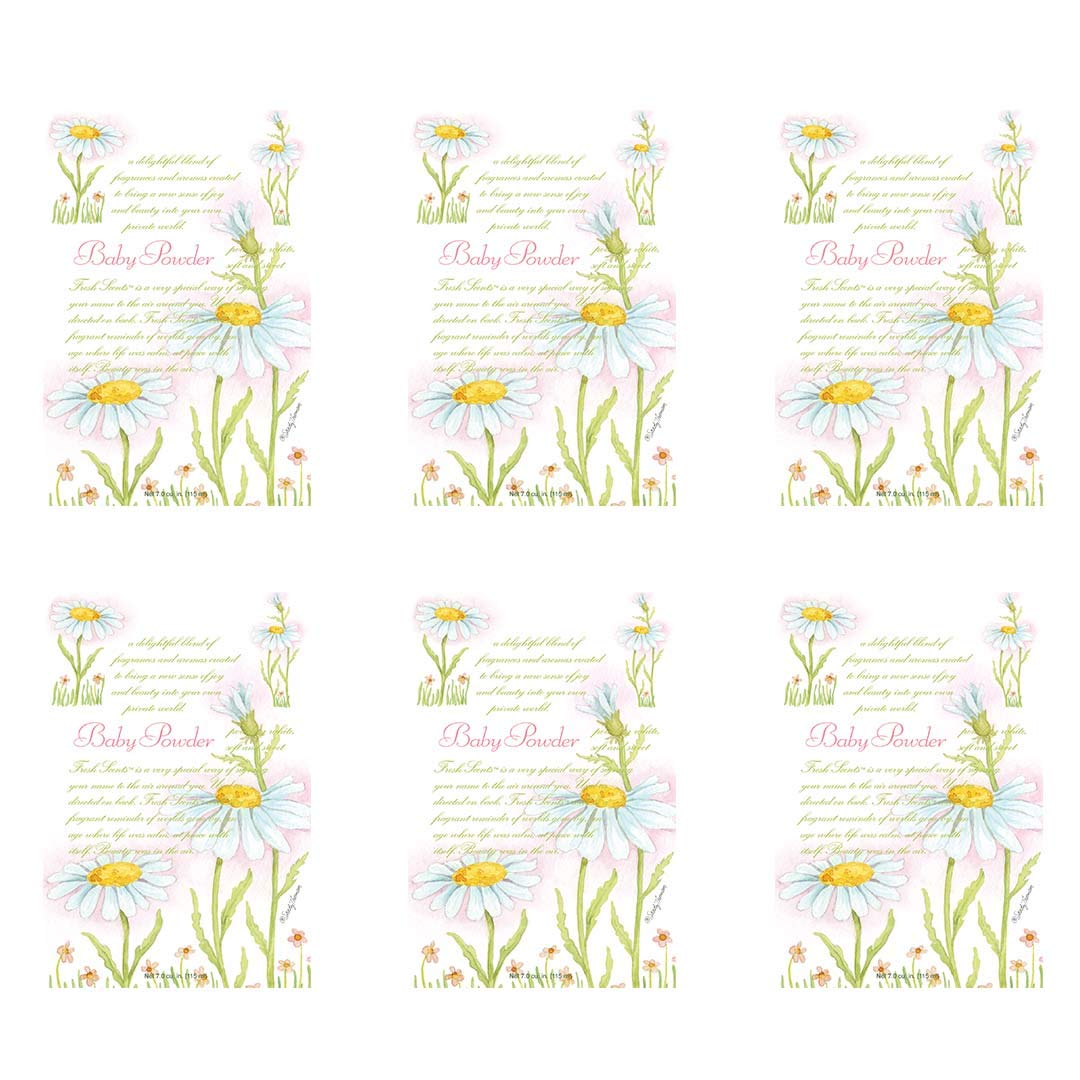 WILLOWBROOK Fresh Scents Scented Sachet - Baby Powder, 6-Pack by WILLOWBROOK