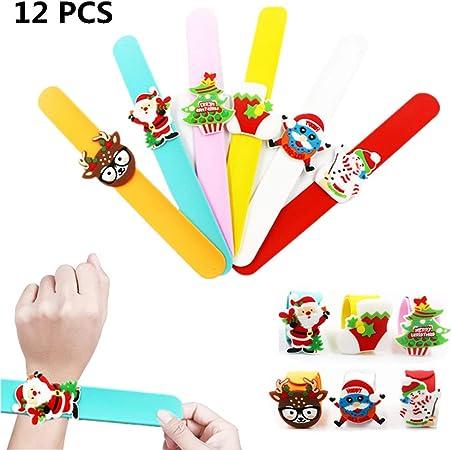 ANIMAL SNAP BRACELET Kids Wrist Slap Band Party Bag Toy Pinata Christmas Gift UK