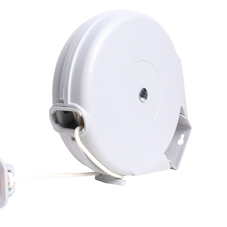 ZYT Durable Retractable 40ft Single Clothesline Dryer Laundry Line Indoor Outdoor PVC Adjustable Heavy Duty Clothesline - Easy installation