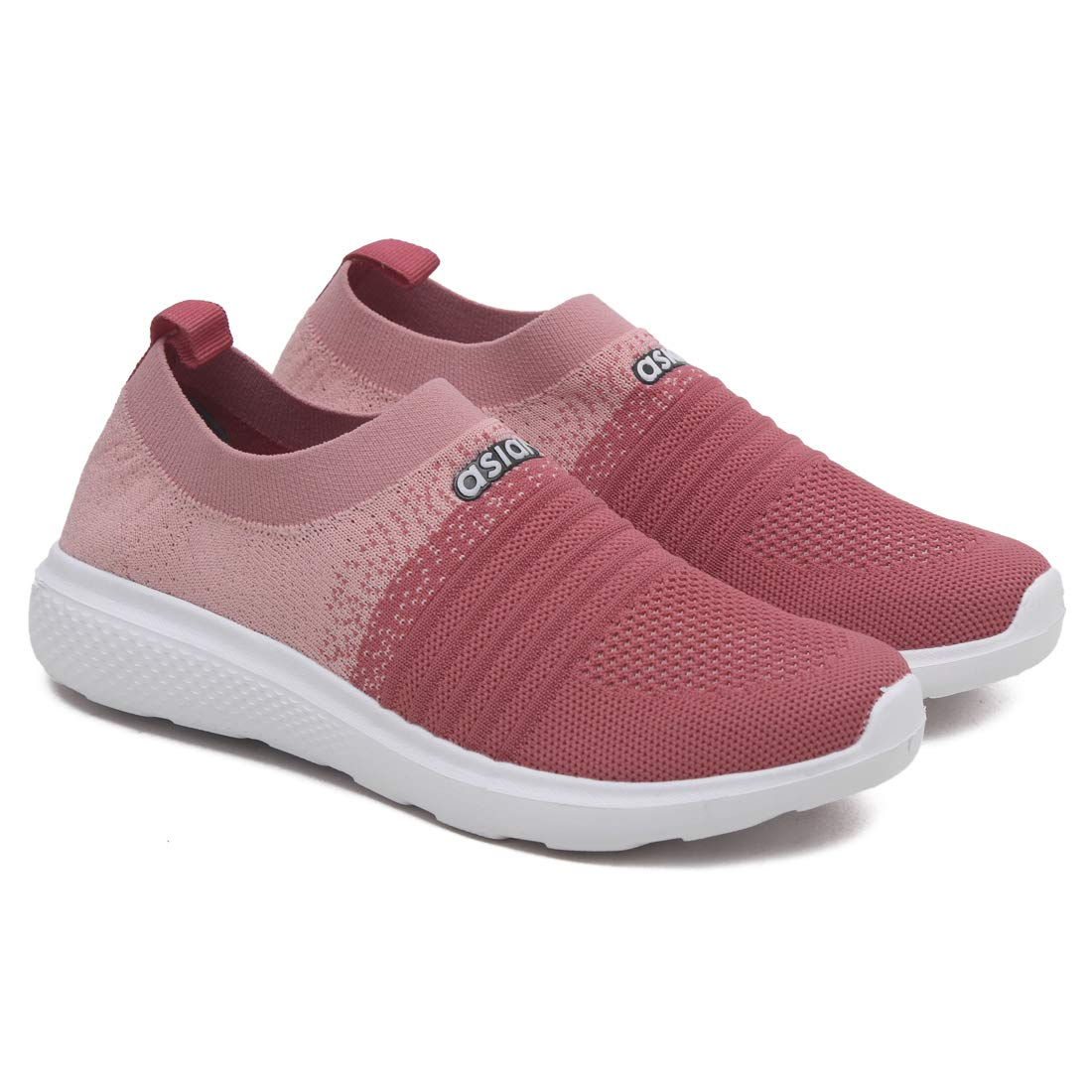 ASIAN Women's Elasto-02 Peach Pink Knitted Socks Sneakers,Ultra-Lightweight, Breathable, Walking, Running Running Shoes Fabric Sports Shoes UK-6 (B081JKJF3H) Amazon Price History, Amazon Price Tracker