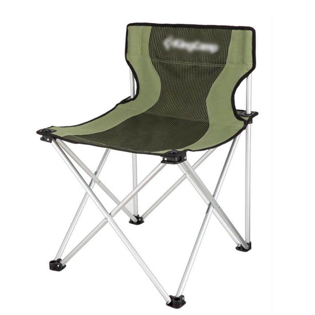 ZGL 旅行椅子 屋外レジャー折りたたみチェアビーチチェア釣りチェアディレクターキャンバスチェア快適なレストチェアグリーン B07CG9SM14