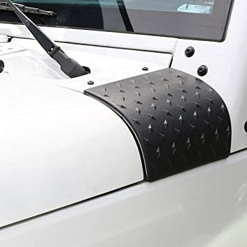 Black Cowl Body Armor Outer Cowling Cover for Jeep Wrangler JK JKU Unlimited Rubicon Sahara X Off Road Sport Exterior Accessories Parts 2007 2008 2009 2010 2011 2012 2013 2014 2015 2016 2017 G016JP