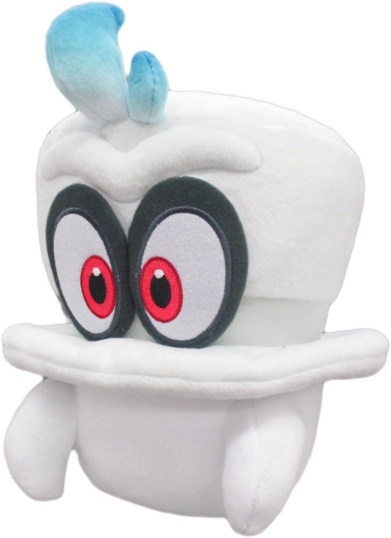 Amazon Com Super Mario Odysssey White Cappy Normal Form Plush Toys Games