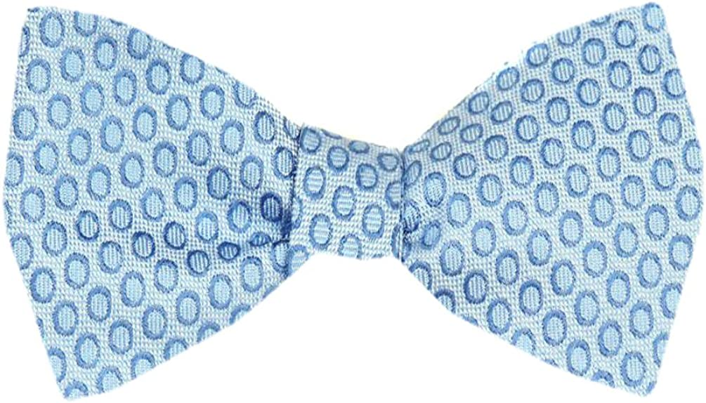 Mens Blue and Navy Silk Dots Self Tie Bowtie Tie Yourself Bow Ties