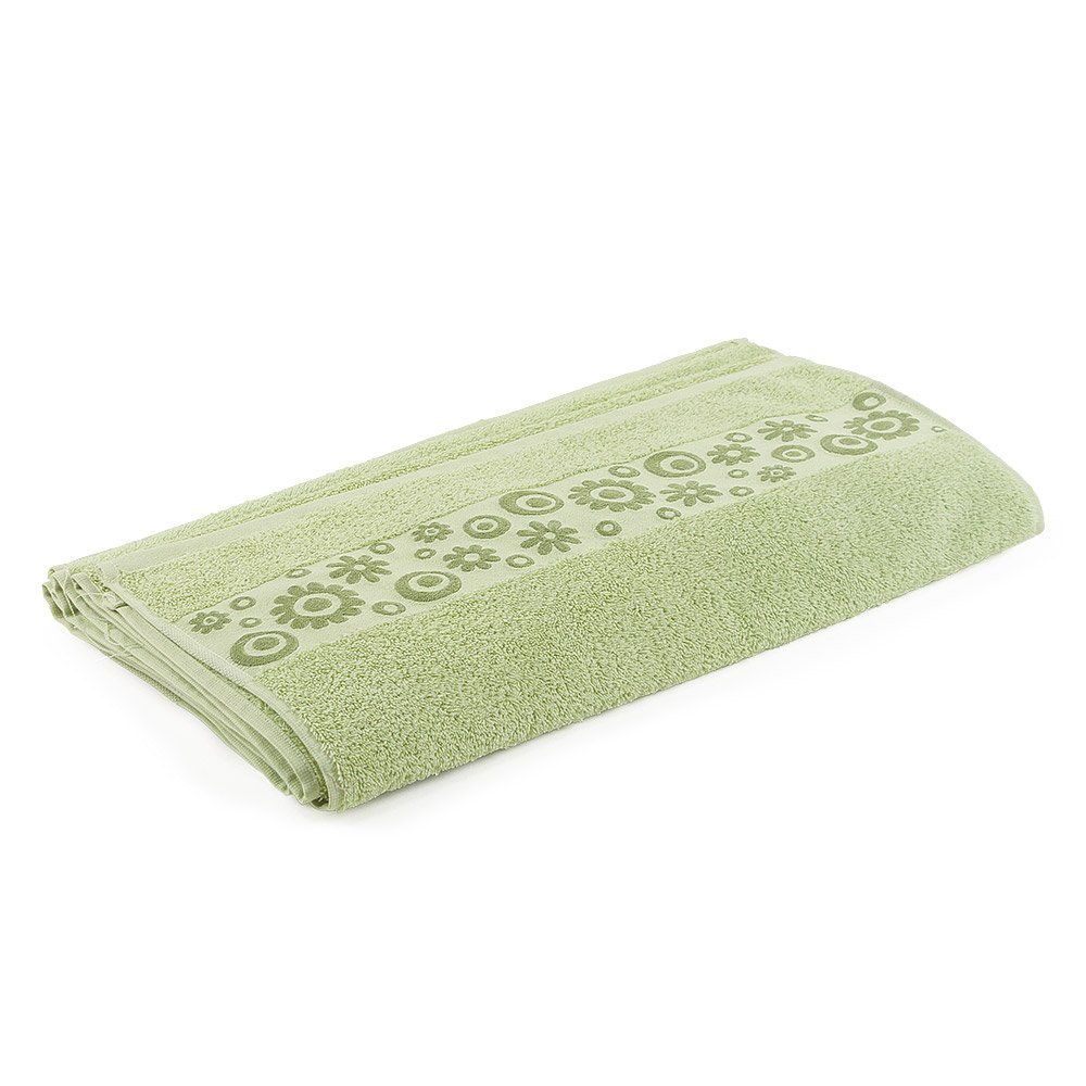 Go West Floral Hand Towel, Light Green by Go West