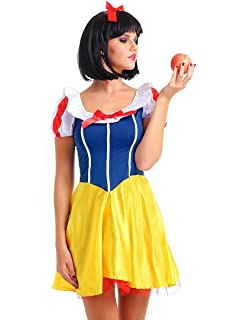 ladies petite sexy snow white dress costume with head band 8