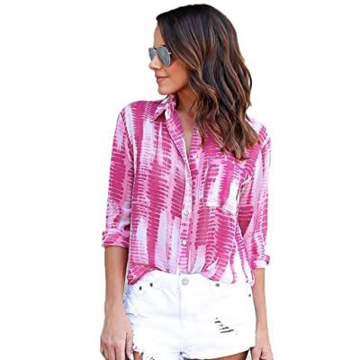 Usstore Women's Girl Tops Chiffon Casual South Beach Tie Dye Blouse