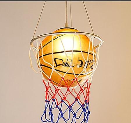 YMXJB Lámpara colgante de creativo baloncesto tipo colgante luz ...