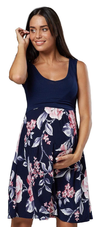 Happy Mama DRESS レディース B07G7D7RB1 US 12/14|Navy With Pink Flowers Navy With Pink Flowers US 12/14