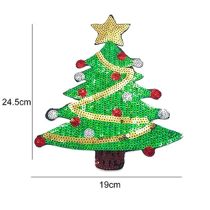 Naisicatar 1PC Weihnachten Nähen-auf oder Eisen-auf Flecken Sankt ...
