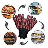 Grilling Cooking Gloves - 932? Extreme Heat Resistant Gloves - INHDBOX 1 Pair 13