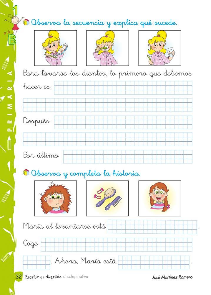 Escribir es Divertido si Sabes Cómo - Composición Escrita 1B - Con Cuadrícula de 4 mm.: Amazon.es: Jose Martínez Romero: Libros