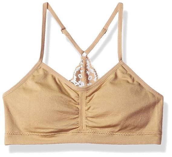 ac926ecca8520 Amazon.com  Maidenform Girl Girls  Big Seamless Ruched Crop W Lace ...