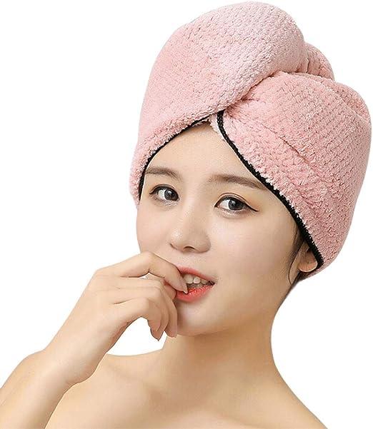 Haar Turban Haartrockentuch Handtuch Kopftuch Kappe Duschhaube mit Bowknot Neu