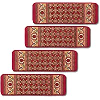 Non-slip Stair Carpets - Set Of 4 Burgundy, Burgundy