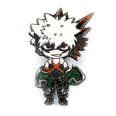 Nuofeng - My Hero Academia Animation Cosplay Cartoon Badge Collection Badge Brooch Pins Bag Novel Anime Alloy Accessories Bags Cloth Decoration(H06) : Office Products