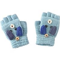 Zeagro Guantes para niños sin dedos – Guantes cálidos de invierno, guantes de punto de medio dedo para niños, regalo de…