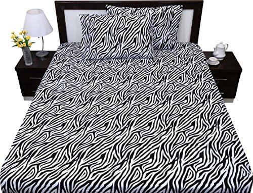 Luxury Egyptian Cotton Set of 2 Pillowcase 600 TC All Size Zebra Print