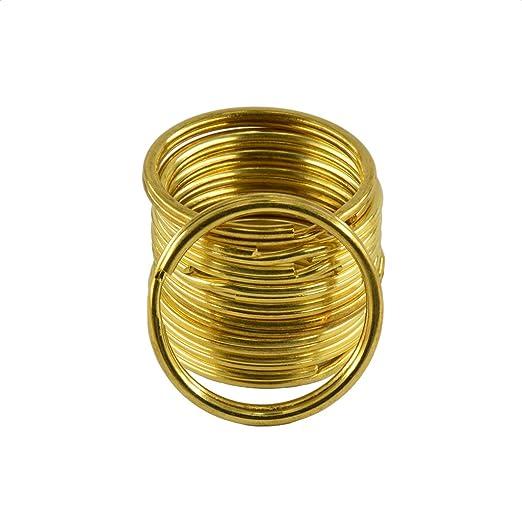 MonkeyJack 10 Pieces Gold Brass Metal Key Rings Chains Split Ring Hoop  Accessories 32mm dc4ba2309