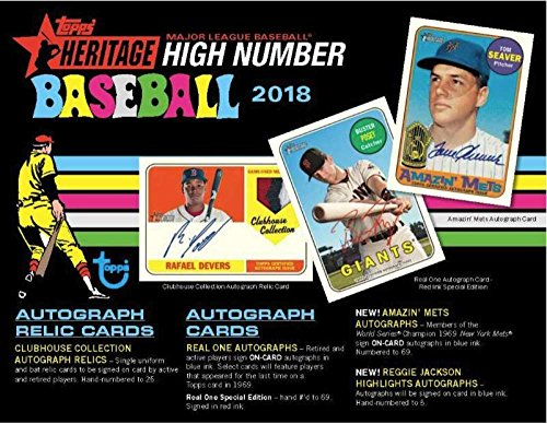 2018 Topps Heritage High Number Baseball Hobby Box (24 Packs/9 Cards) from Heritage High Numbers