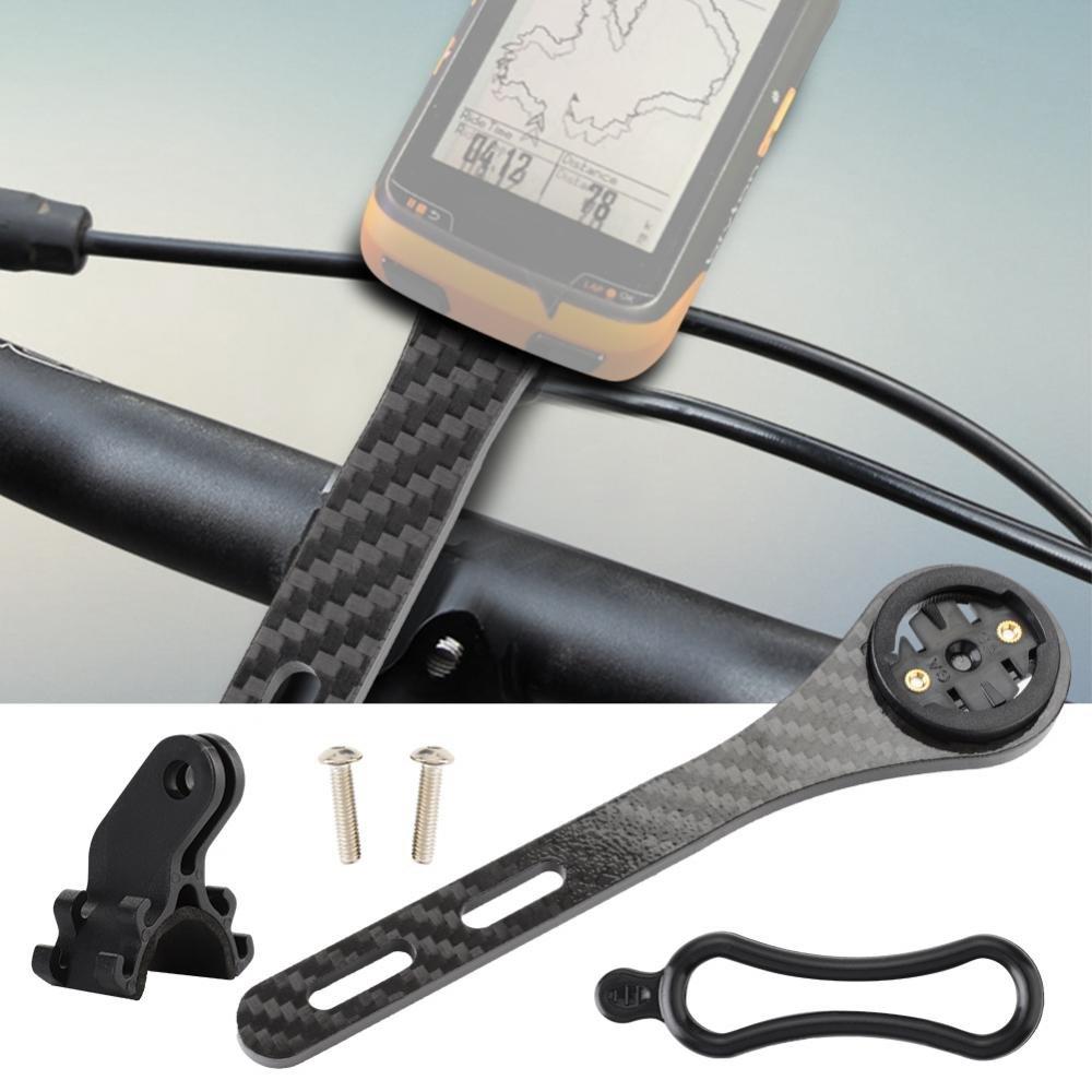 Bike Computer Mount Multifunction Lightweight Durable Carbon Fiber Computer Phone Integrated Handlebar Stem for Garmin and Bryton Series