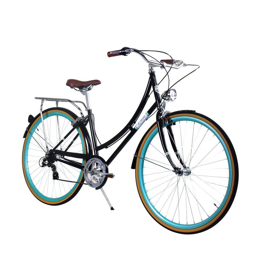 Zycle Fix 44 cmバイク7速度ギアレディースシビックシリーズ自転車 – ブラックCelestial B01N121S69