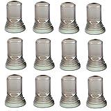 12 Liquor Bottle Universal Pour Spout Dust Cap Cover (Clear)