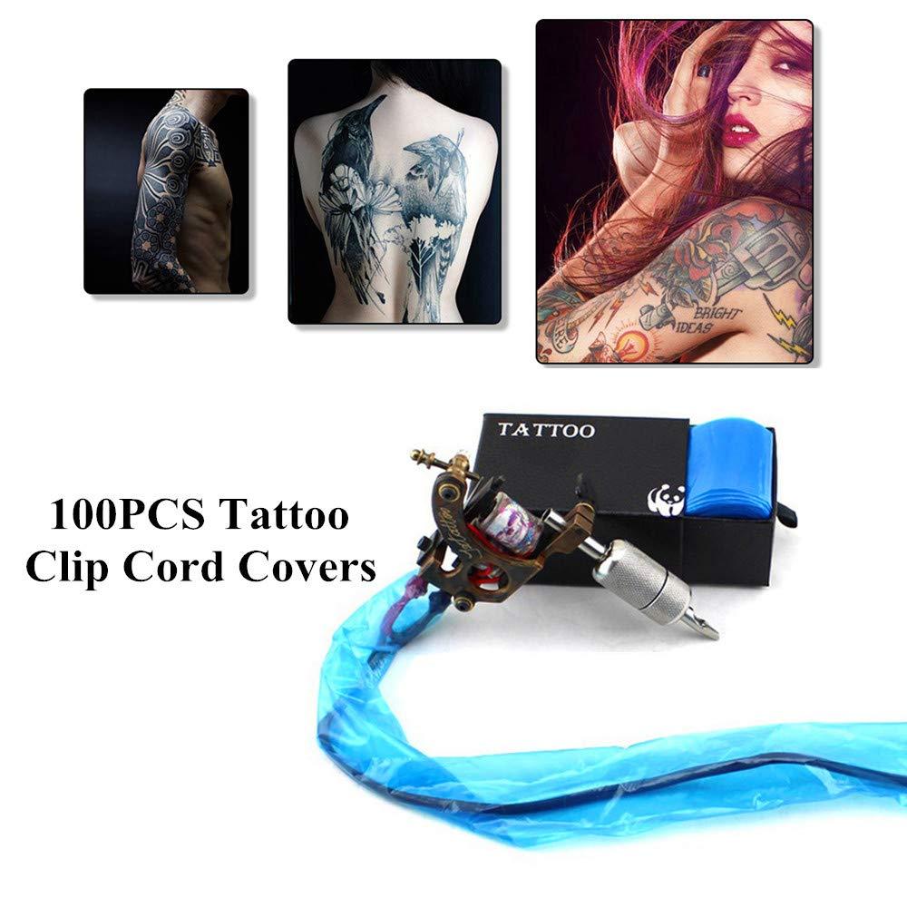 Tattoo Clip Cord Covers Machine Bags - Yuelong Disposable 100 Tattoo Clip Cord Sleeves and 200 Tattoo Machine Covers for Tattoo Clip Cord, Tattoo Machine,Tattoo Kits, Tattoo Supplies