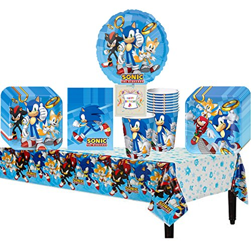 Sonic The HedgeHog Party Pack Bundle (Sonic Decorations)