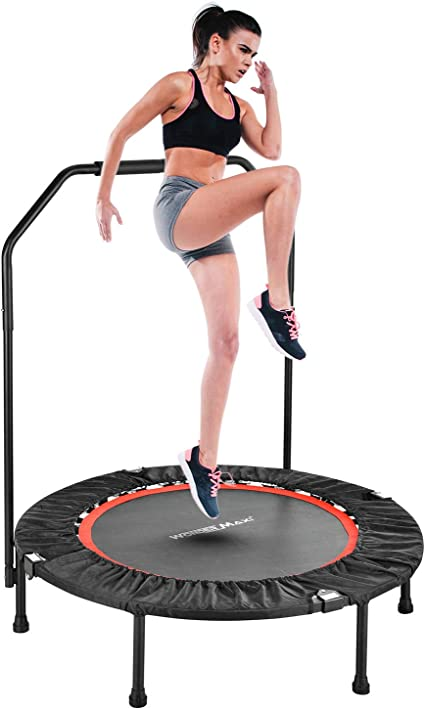 40in Foldable Mini Fitness Trampoline Rebounder Exercise Workout Indoor Outdoor