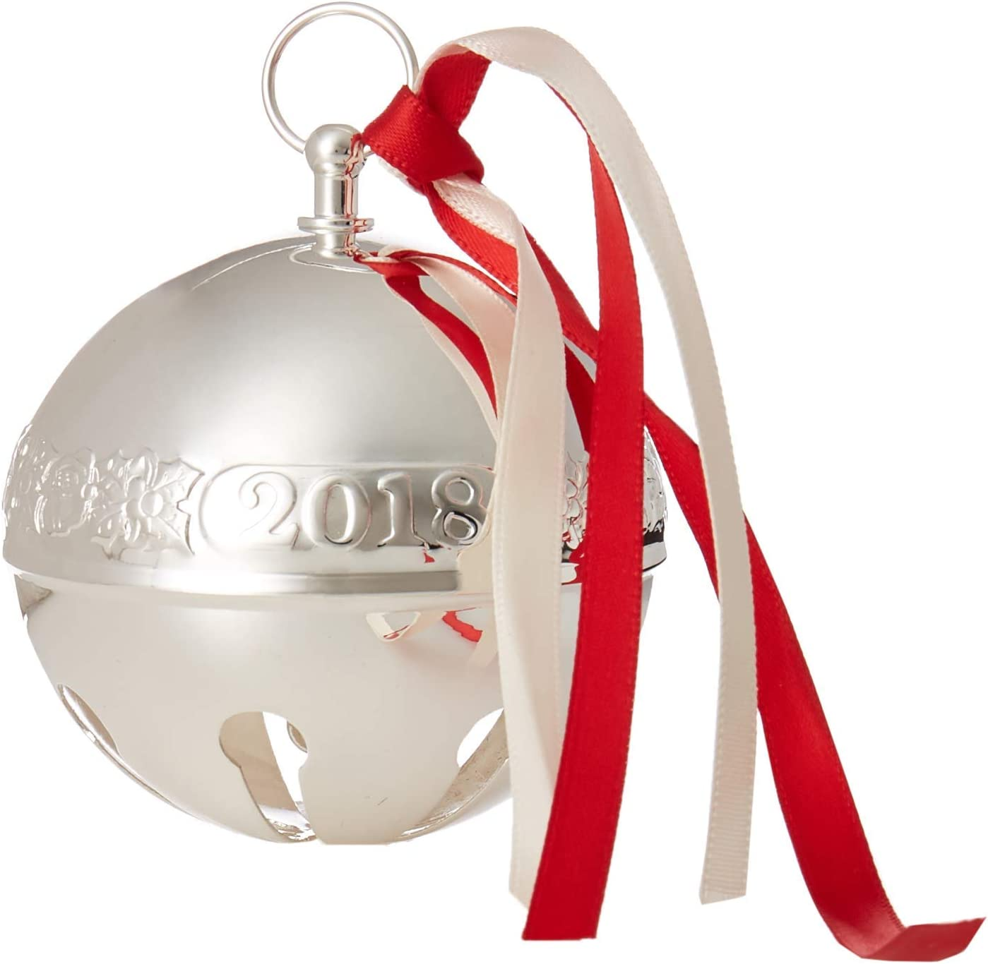 Wallace 2018 Sleigh Bell Silver-Plated Christmas Holiday Ornament, 48th Edition, [並行輸入品]