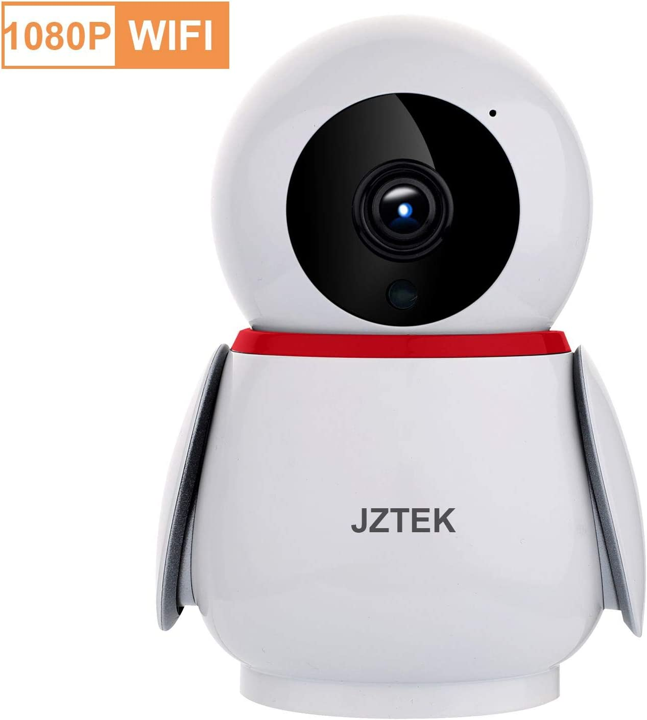 Security Camera 1080P WiFi Pet Camera, WiFi Home Security Nanny Camera, Super Wide View Angle Nanny Cam, PIR Motion Detection Night Vision Two Way Audio for Pet Elder Baby