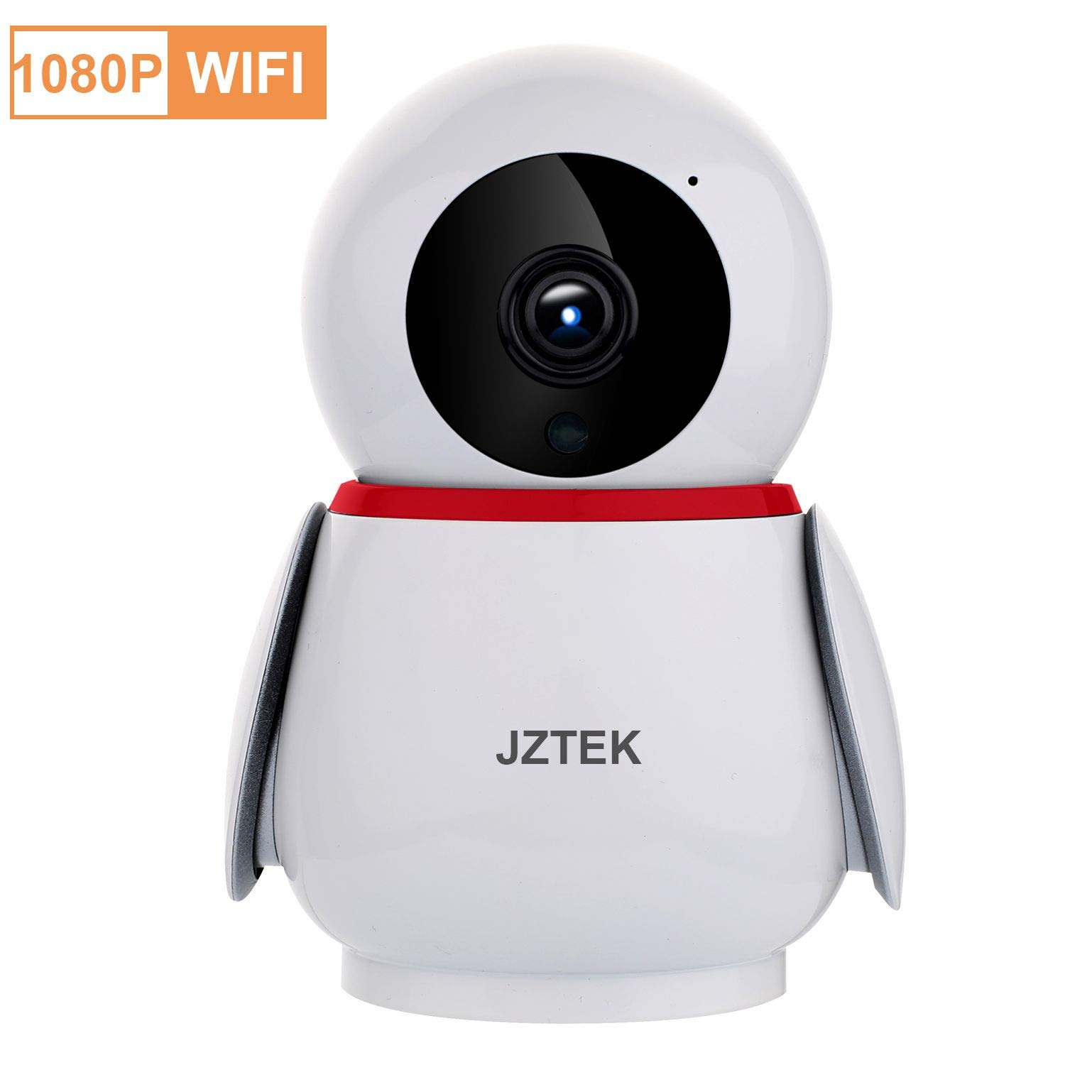 Security Camera 1080P WiFi Pet Camera, WiFi Home Security Nanny Camera, Super Wide View Angle Nanny Cam, PIR Motion Detection Night Vision Two Way Audio for Pet Elder Baby by JZTEK