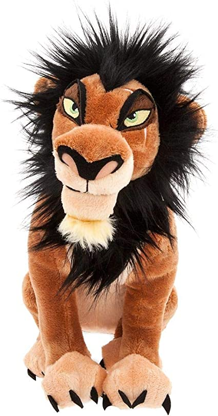 Amazon Com Disney Scar Plush The Lion King Medium 14 Toys Games