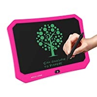 mom&myaboys LCD Writing Tablet for Children, Writing Toys for 3-12 Years Old Girls,17 inch Drawing Board with Lock Erase Button Repeat Writing Memo Office Whiteboard Bulletin Board (Pink)