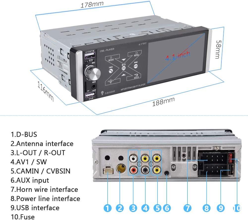AM/FM/RDS/MirrorLink / 2 USB Anschluss/AUX-in Rckmikrofon+ ...