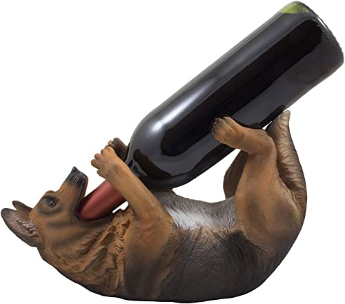 Drinking German Shepherd Dog Wine Bottle Holder Decorative Display Stand Statue Pet D cor Gifts for Dog Owners