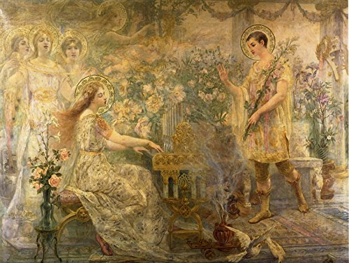 Adolphe la Lyre Saint Cecily and Saint Valerian Private collection 1894~30