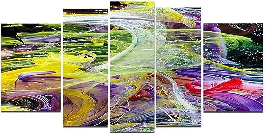 Startonight Glass Wall Art Acrylic Decor Chaos of Colors Set