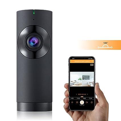 Cámara IP WIFI 720P 180 Grados,Cámara de Vigilancia con Visión Nocturna, Audio de
