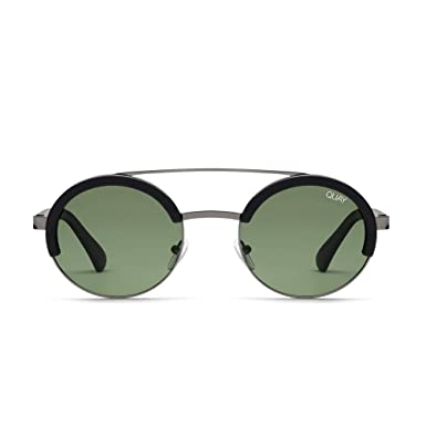 0d918b0c7d0 Quay Australia COME AROUND Women s Sunglasses Round with Brow Bar -  Black Green