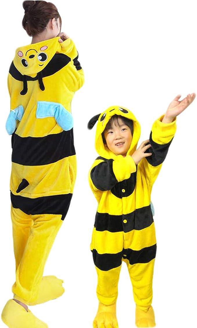 Pigiama kigurumi intero tuta carnevale feste donna animali tigre giallo party